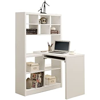 Amazon Com Hudson 16 Cube Shelf With Desk Gray Melamine