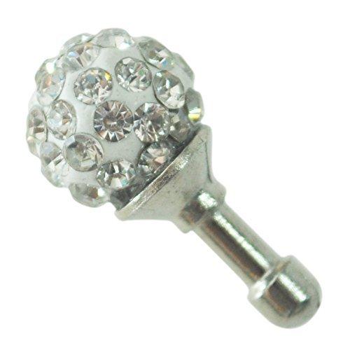 TOOGOO 3.5mm Clear Crystal Ball Earphone Ear Cap Anti Dust Plug Cover for Iphone4/4s 3g