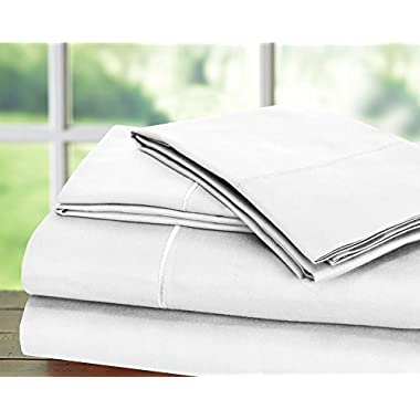 Hotel Collection1 Best Seller Luxury Bed Sheet on Amazon Top Seller in Bed Sheet Highest Quality: Todays Special - Luxury 1000 Thread count 100% Egyptian Cotton Sheet Set, King - White