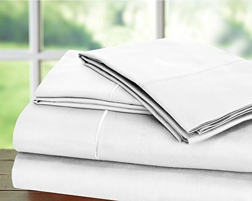 Luxury 900 Thread Count Egyptian Blend 4 Piece Sheet Set (Queen, White)