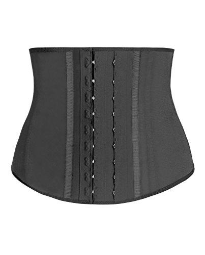 Látex Core Flexi deshuesar Fitband cintura entrenador por Pure formas PS102 negro