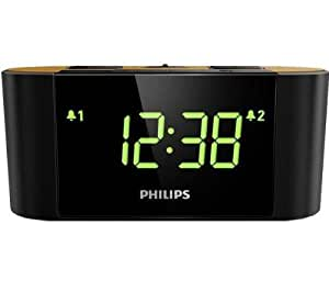 Philips AJ3570/12 F9E600FR1M - Radio despertador con protector de sobretensión (incluye 6 conectores)