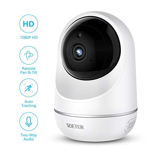 SDETER Wifi Camera, Wireless 1080P Home Security Surveillance IP Camera for Baby/Elder/ Pet/Nanny Monitor, Auto-Cruise, Pan/Tilt, Two-Way Audio & Night Vision ()