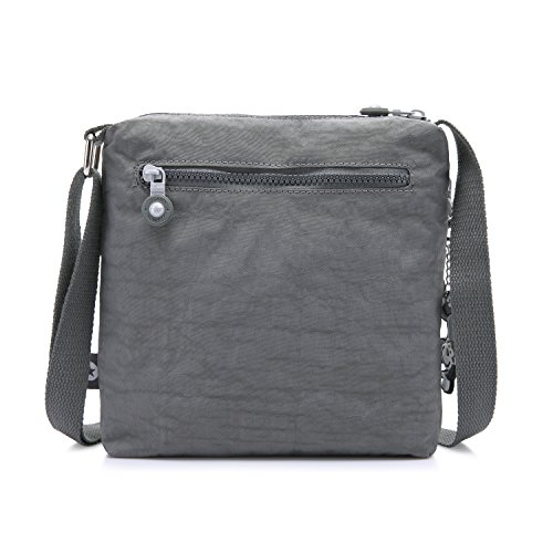 Foino Grey Women Crossbody Pack Bag Sport Girls Messenger Fashion Body Bag Bag Shoulder for Side Satchel Casual Cross Travel rrnZHFU