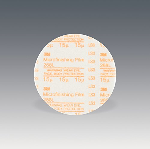 3M Microfinishing PSA Film Disc 268L, 6 in x NH, 15 Micron, Type D, Die 600Z ()