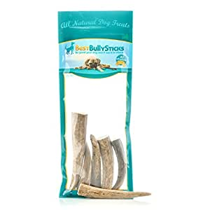 usa natural elk antler dog chews by best bully sticks 8 oz bag pet supplies. Black Bedroom Furniture Sets. Home Design Ideas