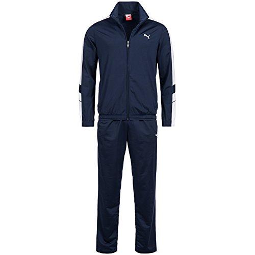 Puma Mens Tracksuit Soccer Training Suit Poly Track Top Pants Suit Navy 819298 (S)