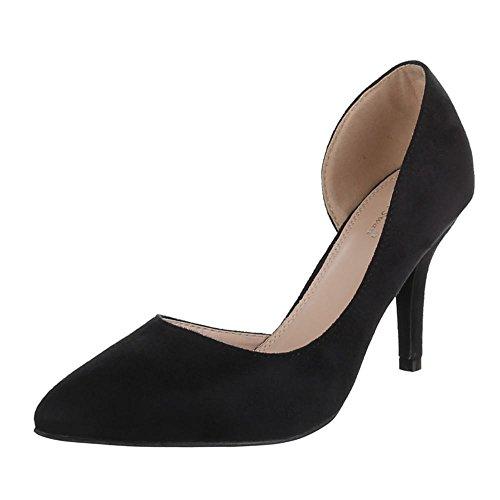 Noir noir Ital talons Chaussures femme design pour à wqAzSf71A