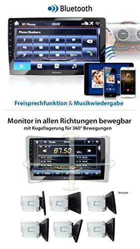 Xomax Xm 2v1004 Radio De Coche Con Pantalla Tactil Xxl Ajustable 10 25 Cm I Mirrorlink I Bluetooth I Puertos Para Microfono Externo Y Camara De Vision Trasera I Rds I Usb I 2 Din