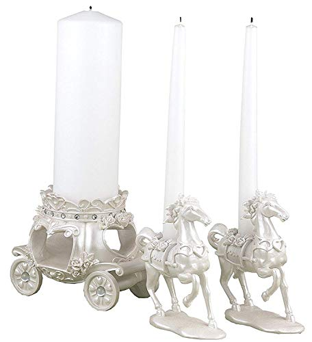 Fashioncraft 8 Sets of 3 Elegant Fairytale Unity Candle Holders Wedding Anniversary Bridal Shower Baby Shower Birthday Party Souvenir Favors
