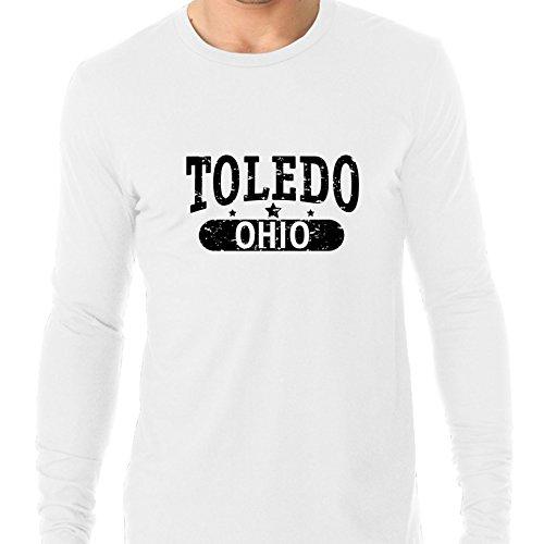 Trendy Toledo, Ohio With Stars Men's Long Sleeve T-Shirt -