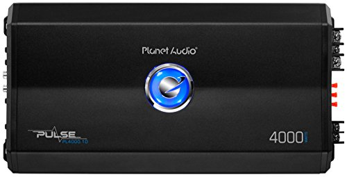 Planet Audio PL4000.1D Pulse 4000 Watt, 1 Ohm Stable Class D Monoblock Car Amplifier with Remote Subwoofer (Best Planet Audio Car Subs)