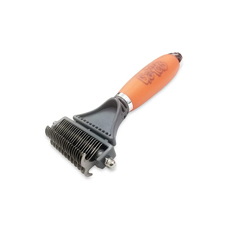 dog supplies online gopets dematting comb with 2 sided professional grooming rake for cats & dogs