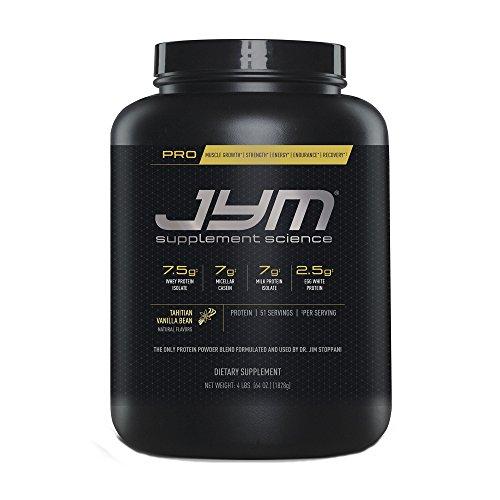 Pro Jym Protein Powder - Egg White, Milk, Whey protein isolates & Micellar Casein | JYM Supplement Science | Tahitian Vanilla Bean Flavor, 4 Lb (Whats The Best Type Of Creatine)