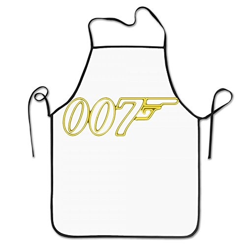 Q James Bond Costume (007 James Bond AwesomeChef Personalized Kitchen Cooking Apron For Female)