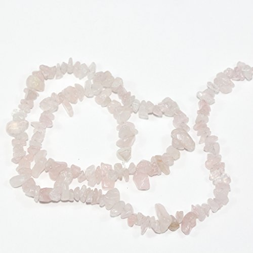 """AAA Natural Rose Quartz Gemstones Smooth Chips Beads Free-form Loose Beads ~8x5mm beads for Jewelry Making (1 strand, ~16"""") GZ1-13"""