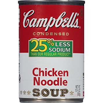 Campbell's 25% Less Sodium Chicken Noodle Condensed Soup 10.75 oz. (Pack of 3)