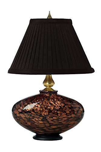 Thumprints 1012-C05-TL01 Black Cache Table Lamp with Gold Glitter, Brushed Gold Accents Finish