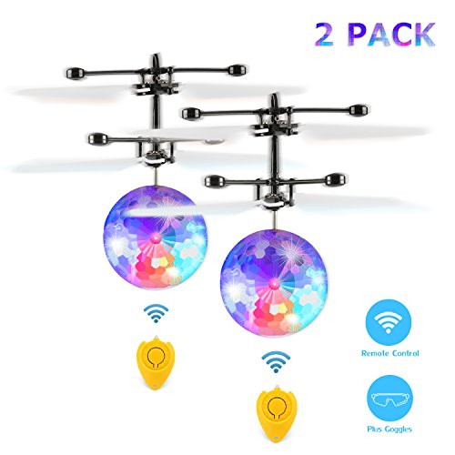 Fansteck RC Flying Ball 2 Pcs, Flying Kids Toys with Goggles...