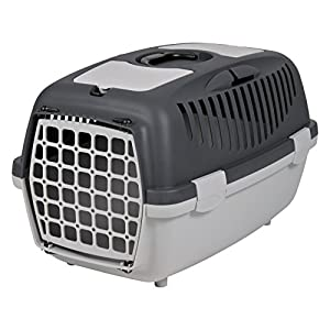 Trixie Capri Pet Carrier, Dark Grey (22x15x13-inch)