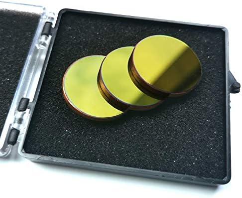 CNCOLETECH Cu 銅反射ミラー 高出力 CO2レーザー彫刻 切断機/彫刻機 80W-200W Dia: 20mm ; 3PCS LM-CU20-3X
