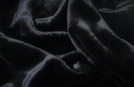 - Black Mink Faux Fur Dog Throw or Blanket