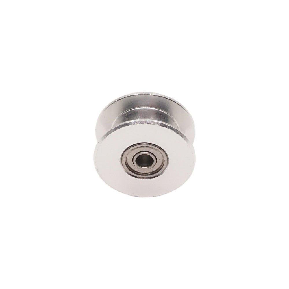 paquet de 5 pi/èces courroie de distribution de largeur 6mm Samje GT2 20Teethless 3mm al/ésage de courroie de distribution en aluminium de poulie de renvoi pour imprimante 3D 20 sans dent - de 3 mm