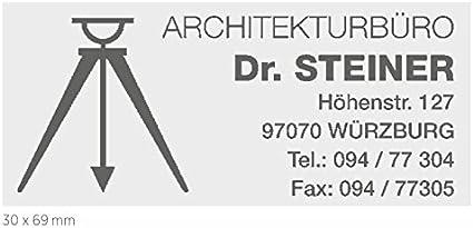 Colop Printer Compact Stempel 40 mit individueller Textplatte//Logo