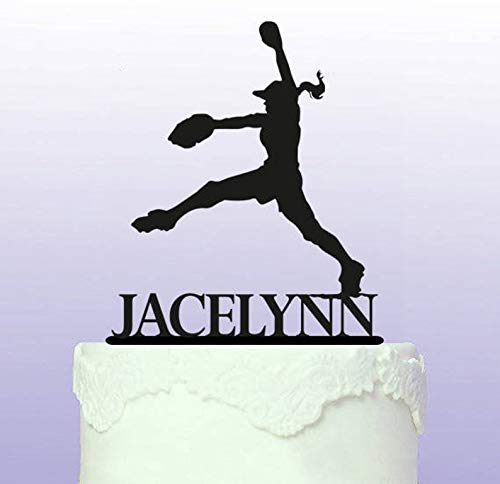 (Softball Pitcher Personalised Cake Topper)