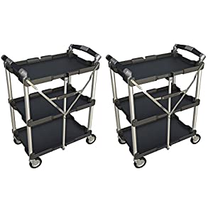 collapsible folding cart with wheels