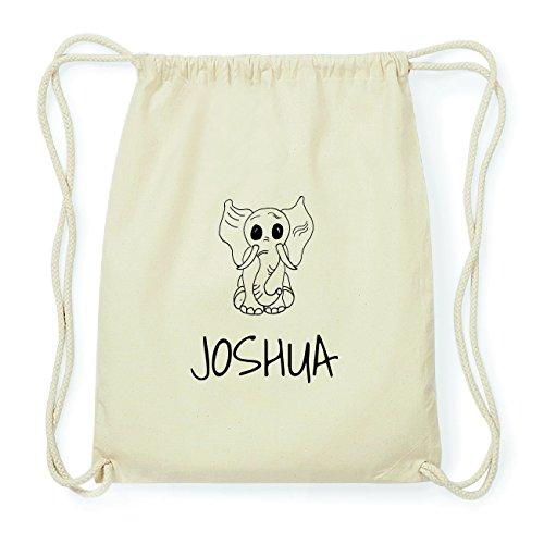 JOllipets JOSHUA Hipster Turnbeutel Tasche Rucksack aus Baumwolle Design: Elefant