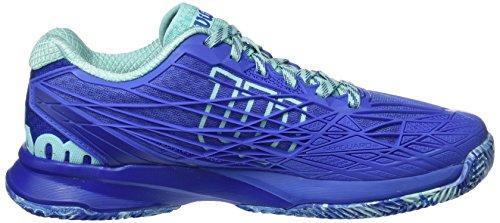 Wilson Damen Haasten Pro 2.0 Gravel Tennisschoenen Blau (amparo Blauw / Surfen Op Het Web / Aruba Blauw)