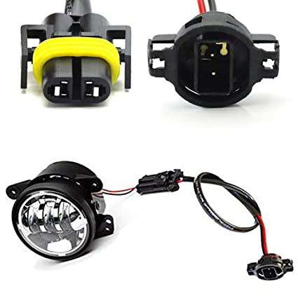 amazon com: ijdmtoy (2) led fog lamps conversion adapter wires for 2010 and  up jeep wrangler jk (good for jw speaker 6045 6145 or truck-lite 80275):