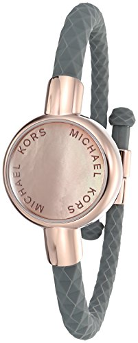 Price comparison product image Michael Kors Access Activity Tracker Crosby Grey Silicone Rose Gold Bracelet