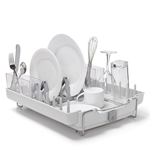 oxo-good-grips-convertible-foldaway-dish-rack-stainless-steel