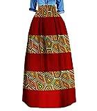 Comaba Womens Highwaist Dashiki Africa Stylish Plus Size Simple Long Skirt 9 4XL