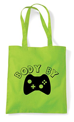 Gaming With Statement By Body Shopper Tote Bag Buttons Controller Lime RqF4n6O