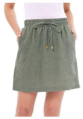 Ellen Tracy Women's Linen Skort (Small, Caper) ()