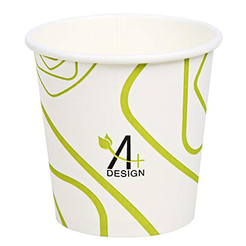 - Special Green Lines Design, Paper Hot Cup,Eco-friendly,100% Blodegradable&Compostable, 50 count. (4 OZ)