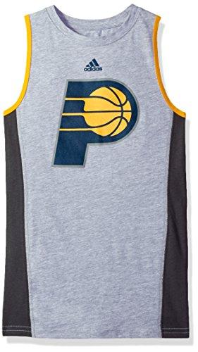 NBA Youth Boys 8-20 Indiana Pacers Fan Gear Tank-Heather Grey-L(14-16)