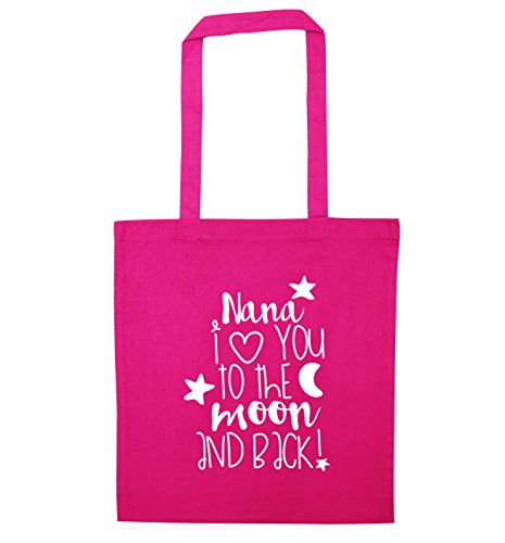 moon tote Creative Nana Pink and to I love Flox you bag back the nORS1WO