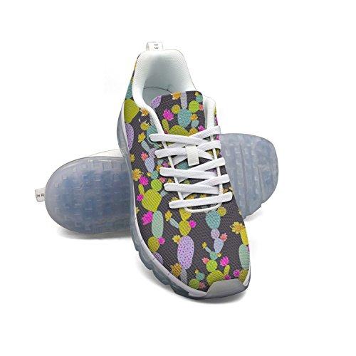 Faaerd Cacti Whimsical Cactus Mens Moda Leggero Mesh Cuscino Daria Sneakers Sneakers Da Basket