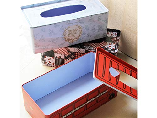 Pullic Tissue Box Lovely Printed Rectangle Tissue Case Paper Pumping Box for Home and Office(Blue) by Pullic (Image #2)