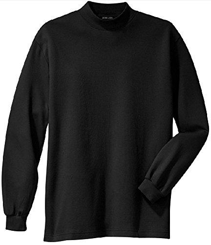 Cotton Mens Turtleneck Interlock (Joe's USA(tm - Men's Interlock Knit Mock Turtleneck in Size L)