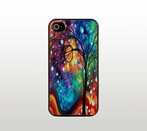 Tree Art iPhone 5 5s Case - Hard Plastic Snap-On Custom Cover - Black