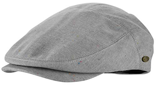 Men's Thick Cotton Summer Newsboy Cap SnapBrim Ivy Driving Stylish Hat (Gray Sprinkle-2925, L/XL)