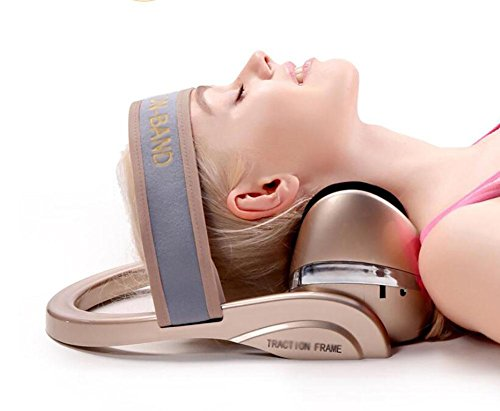 Cervical Neck Traction Device Multifunction - D&F Infrared heating,airbag massage, relieve fatigue Pain Relief/Home Improved Spine Alignment by Traction