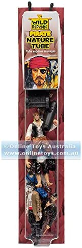 Tube of Figurines /& Play mat Wild Republic Pirates