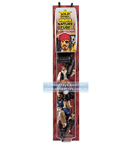 """Wild Republic Nature Tube, Buccaneer Figurines, Pirate Party, Kids Gifts, Educational Toys, Hobby, 10-Piece Set,Multi,1.5"""" to 3"""""""