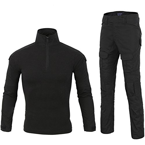 Lanbaosi Tactical Combat Waterproof Shirt Pants Hiking Fast Dry Set Military Uniform by LANBAOSI (Image #4)